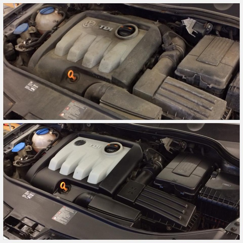 cleaning engine bay