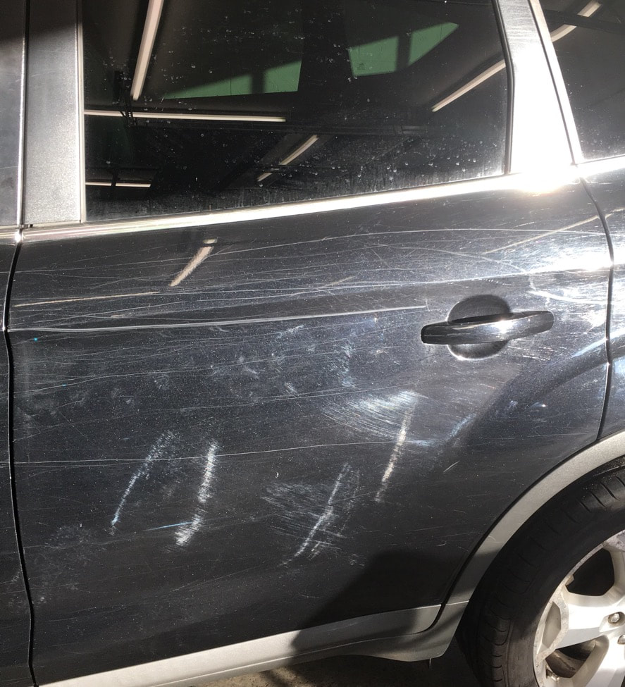 Machine polishing scratches